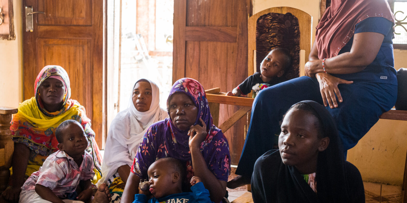 Caregivers and children in the family home