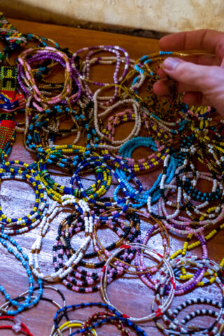 All kinds of necklaces, in all kinds of colors and patterns