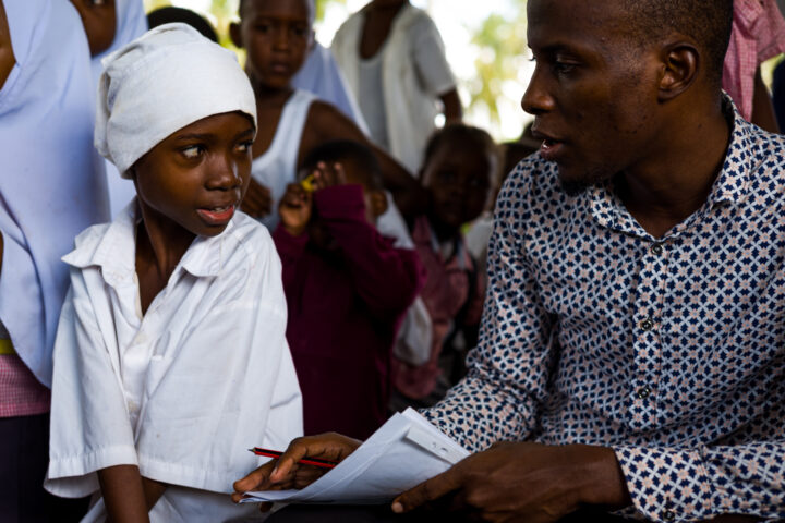 Gilead assisting a child student